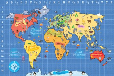 Dünya Haritası (Küçük)